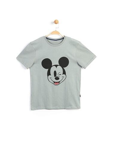 Mickey Mouse Disney Yetişkin Tişört 18007 Gri
